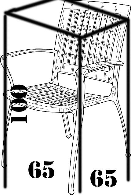 Pokrowiec na krzesło / krzesła ogrodowe ODPORNY